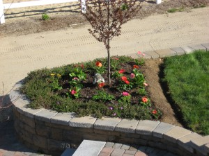 Walkway, Granite Steps, Granite Light Post, Retaining Wall in Chester, NH