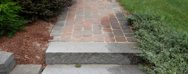Granite Steps and Walkway Repair in Windham NH