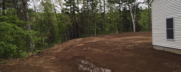 Excavation, Grading , Power raking and loam installation. Lee, NH