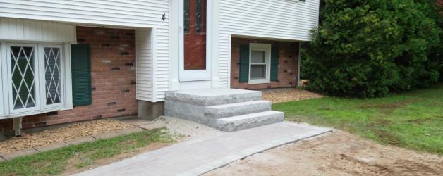Brick Walkway and Granite Steps in Londonderry, NH