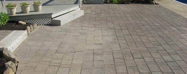 Brick Patio and Granite Steps in Salem, NH