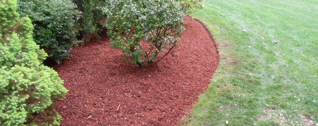 Mulch and Edging Job in Salem, NH