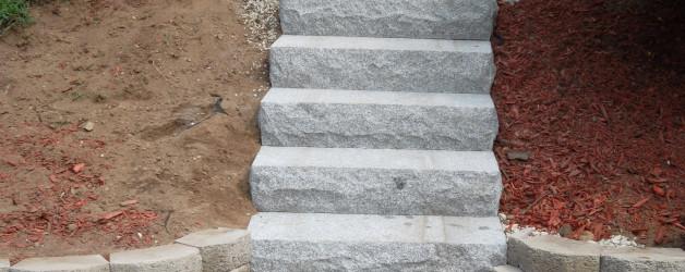New Walkway and Granite Steps in Raymond, NH